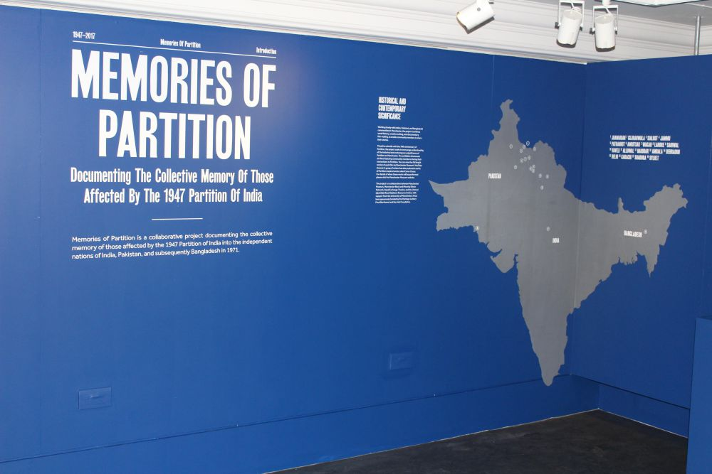 Memories of Partition exhibition. Credit: Manchester Museum