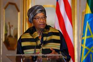 Ellen Johnson Sirleaf's record on women's rights has been mixed. Credit: Reuters/Tiksa Negeri