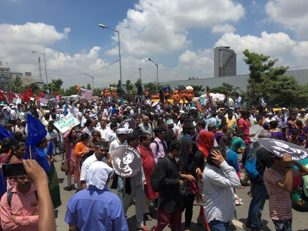 Gauri protest