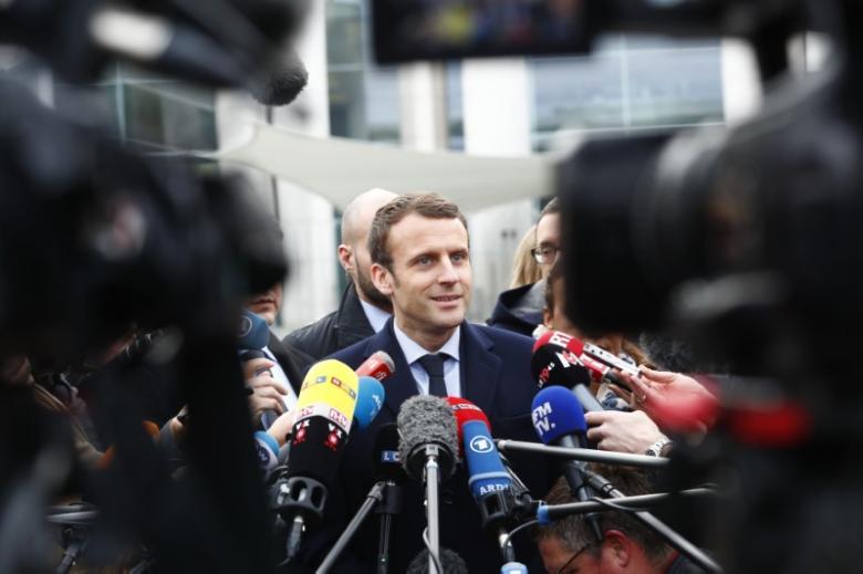 French President Emmanuel Macron. Credit: Reuters/Fabrizio Bensch