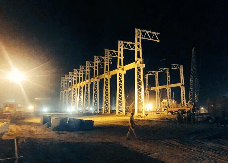 Construction underway at the Marhowra loco plant. Credit: Twitter/Shankar Dhar