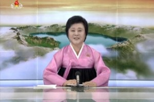 A North Korean KRT TV presenter announces the successful launch of a new intercontinental ballistic missile in this July 4, 2017 still image taken from TV. Credit: Reuters