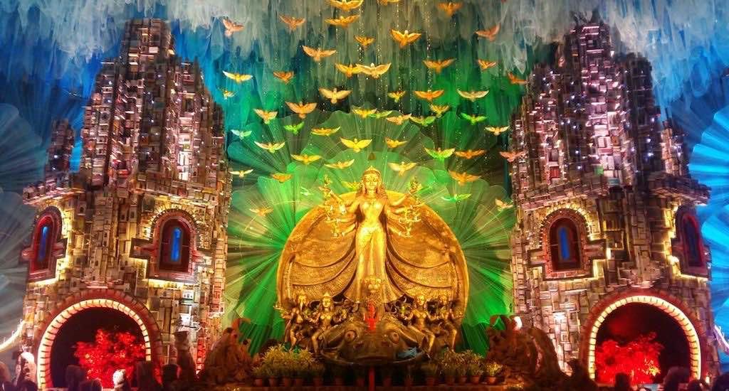 Gouranga Kuila's pavilion art for a puja in Kolkata. Credit: Gouranga Kuila/VillageSquare