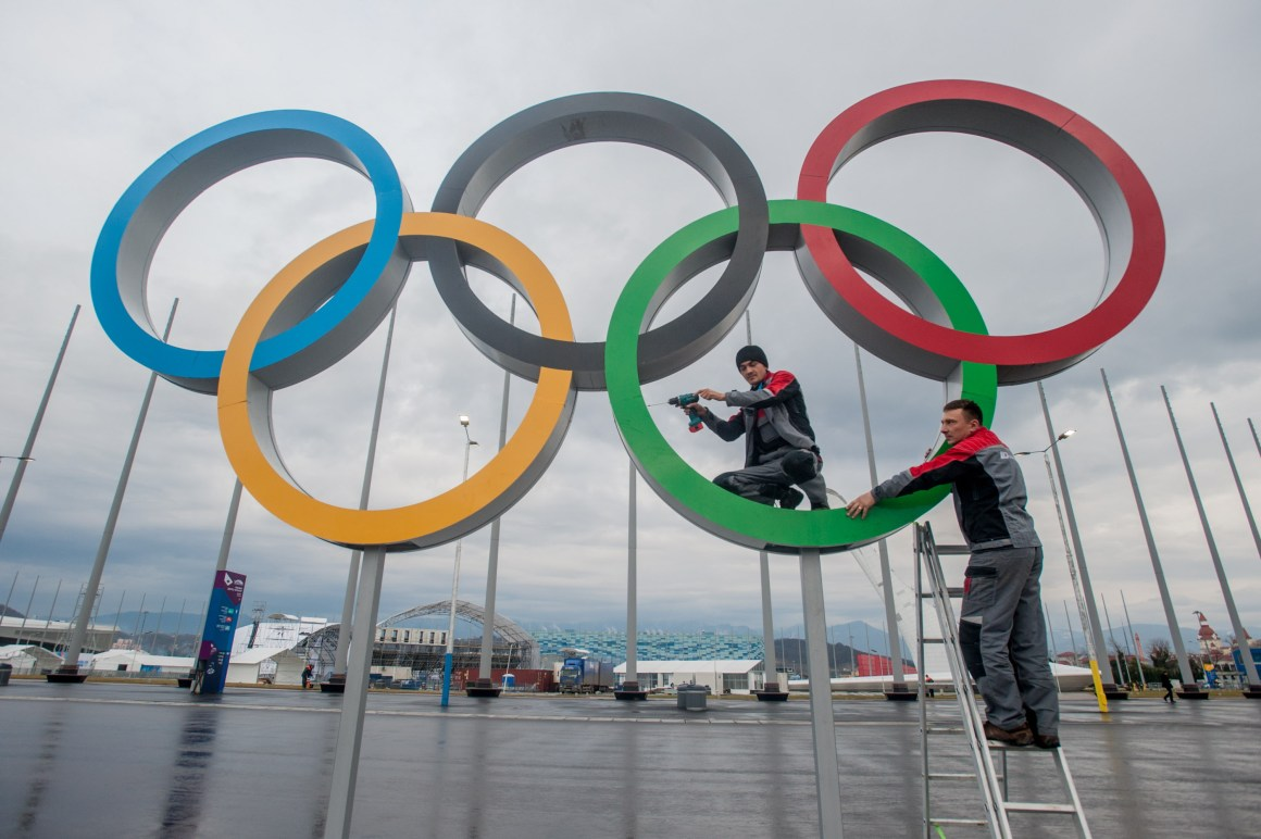 The Olympics rings. Credit: Reuters