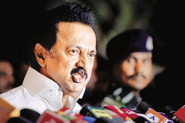 File Photo/DMK working president M.K. Stalin addressed the party's MLAs in Chennai on Tuesday, a day before the Madras HC hearing on the party's plea on a floor test in Tamil Nadu assembly. Photo Credit: PTI