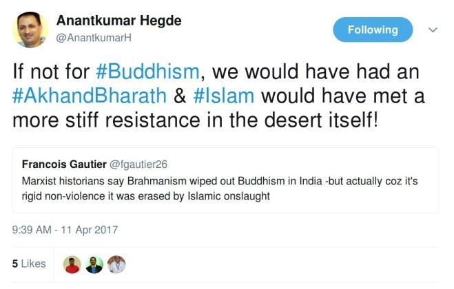 anantkumar hegde islam religion buddhism