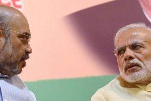 Prime Minister Narendra Modi with BJP president Amit Shah. Credit: PTI