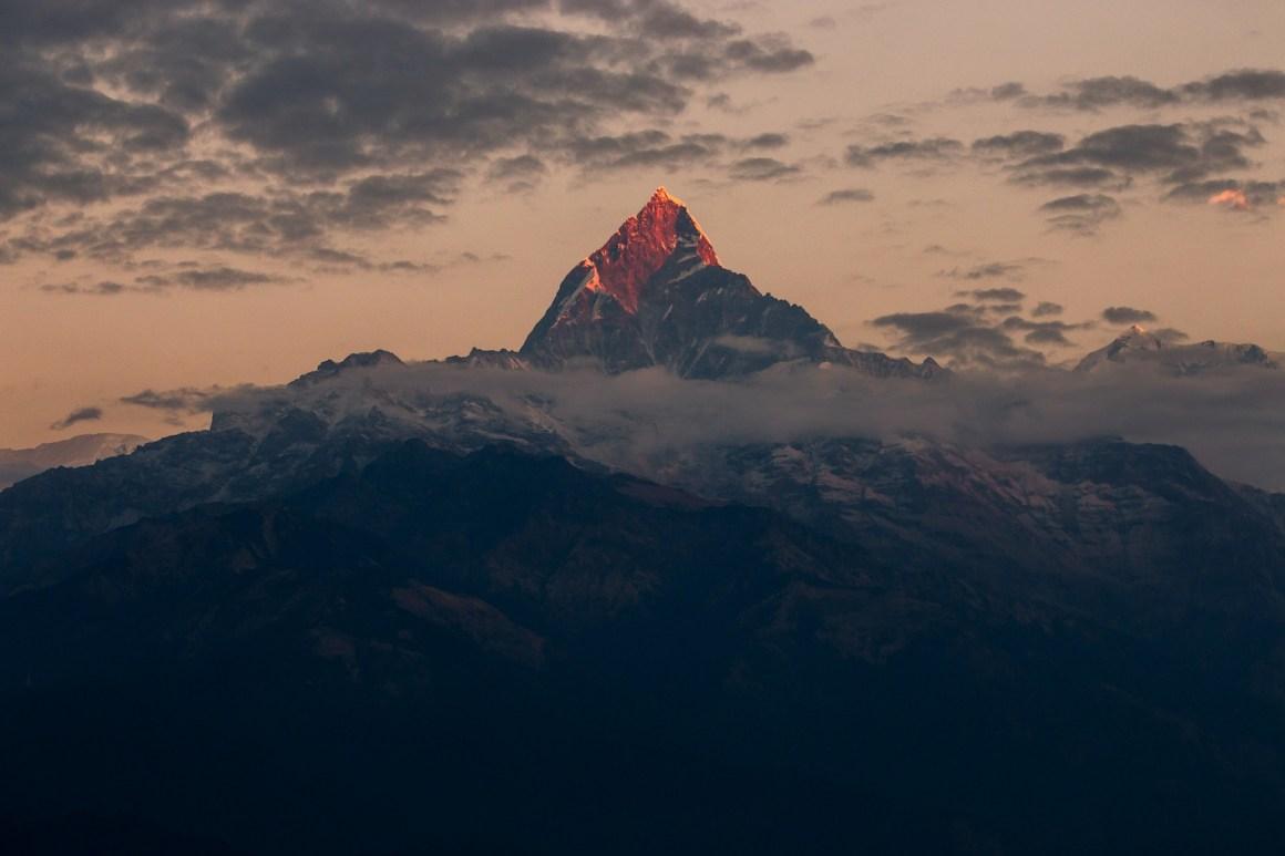 The Machapuchare peakin the Annapurna Himalaya in Nepal. Credit: gorkhe1980/pixabay