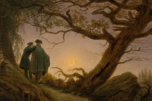 'Two Men Contemplating the Moon' by Caspar David Friedrich. Credit: Wikimedia Commons