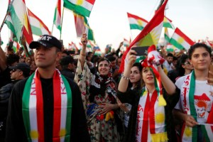 Kurds celebrate to show their support for the upcoming September 25th independence referendum in Erbil, Iraq September 22, 2017. Credit: Reuters