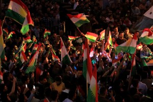 Kurds celebrate to show their support for the independence referendum in Duhok, Iraq, September 26, 2017. Credit: Reuters