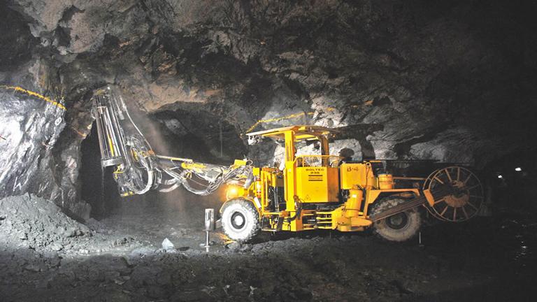 An image of the Narwapahar uranium mine, 12 km northwest of Jaduguda, Jharkhand. Credit: UCIL