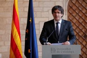 Catalan President, Carles Puigdemont Credit: Reuters/Yves Herman