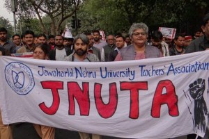 The teachers body, exercising its powers under the JNU Teachers Association (JNUTA) constitution, set a three-day deadline for the VC to submit his defence. Credit: JNUTA