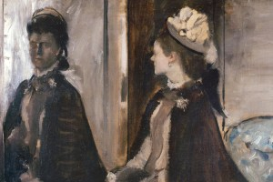 Detail from Madame Jeantaud au miroir by Edgar Degas c1875. Credit: Wikipedia