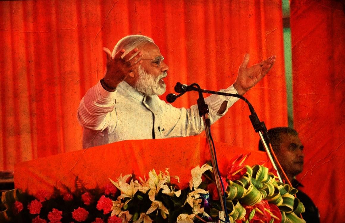Prime Minister Narendra Modi addressing a public rally after inaugurating the Chenani-Nashri Tunnel, in Jammu Kashmir on April 02, 2017. Credit: PIB