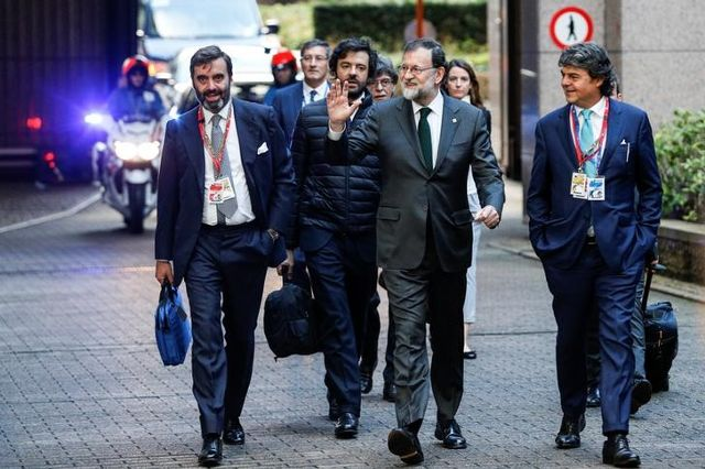 Spain's Prime Minister Mariano Rajoy arrives at a European Union leaders summit in Brussels, Belgium October 20, 2017. Credit: Reuters