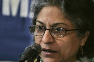 Asma Jahangir speaks during a news conference in Islamabad January 25, 2007. Credit: Reuters