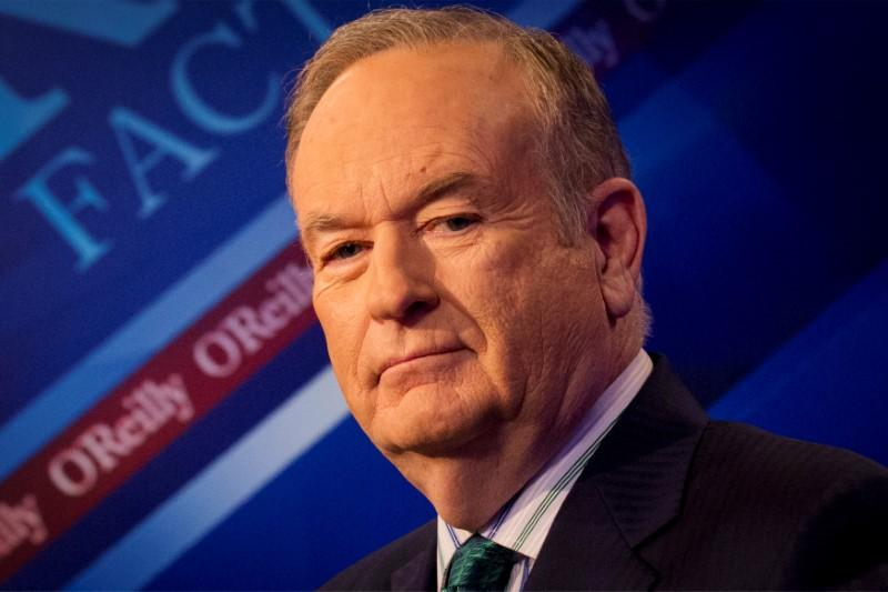 "Fox News Channel host Bill O'Reilly on the set of his show ""The O'Reilly Factor"". Credit: Reuters"