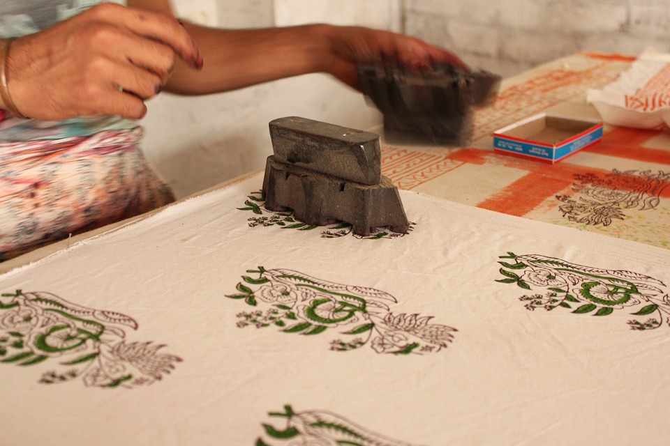 Block printing is one of India's oldest forms of surface ornamentation on textile. Credit: Pixabay