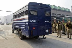 A police van in New Delhi. Credit: Reuters/Stringer