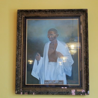 A portrait of Mahatma Gandhi at India Club. Courtesy: India Club