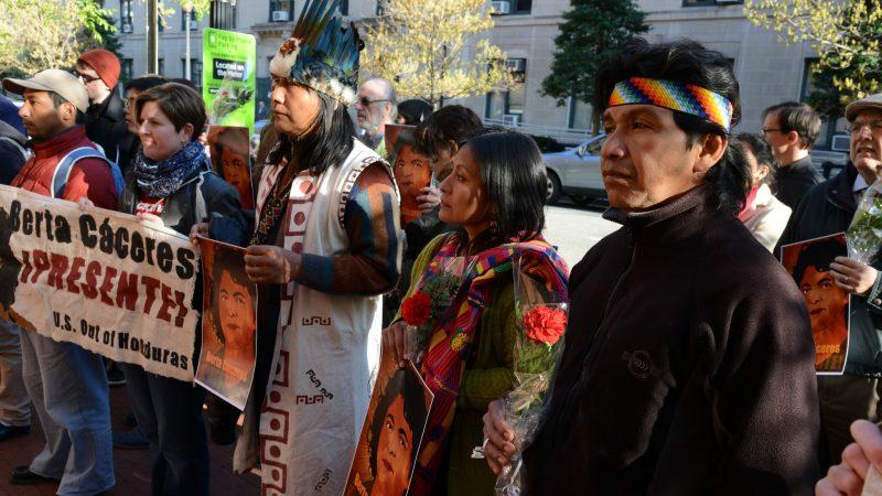 Protest in memory of Berta Cáceres, assassinated in 2016. Credit: Comisión Interamericana de Derechos Humanos, used under Creative Commons licence (CC BY 2.0).