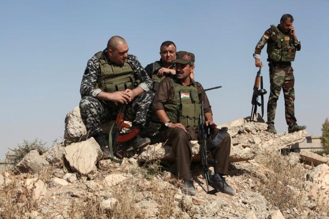 Kurdish Peshmarga forces are seen near Altun Kupri, between Kirkuk and Erbil, Iraq October 20, 2017. Credit: Reuters