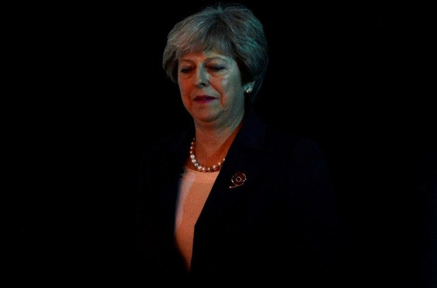 Britain's Prime Minister Theresa May arrives to speak at the Conferederation of British Industry's annual conference in London, Britain, November 6, 2017. Credit: Reuters/Mary Turner