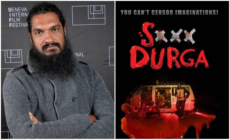 <em>S Durga</em> director and poster. Credit: Facebook