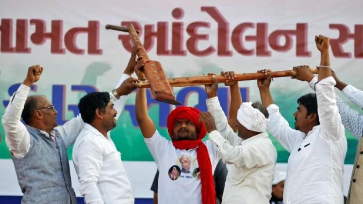 Patidar agitation leader Hardik Patel. Credit: PTI