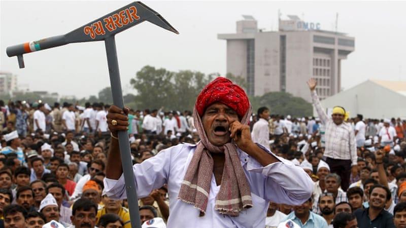 Patidar agitation in Gujarat. Credit: Reuters