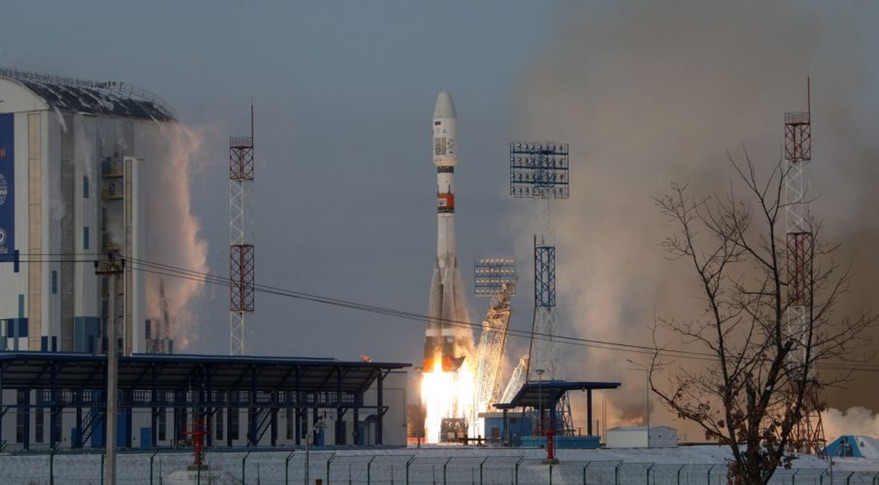 A Soyuz-2.1b rocket lifts off from the Vostochny Cosmodrome on November 28. Credit: Roscomos