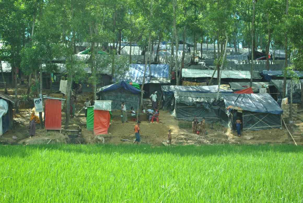 A refugee camp in Balukhali. Credit: Rajeev Bhattacharyya