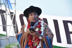 Bolivia's President Evo Morales speaks during a ceremony in Tiquipaya, Cochabamba, Bolivia, November 28, 2017. Enzo De Luca/Courtesy of Bolivian Presidency/Handout via Reuters