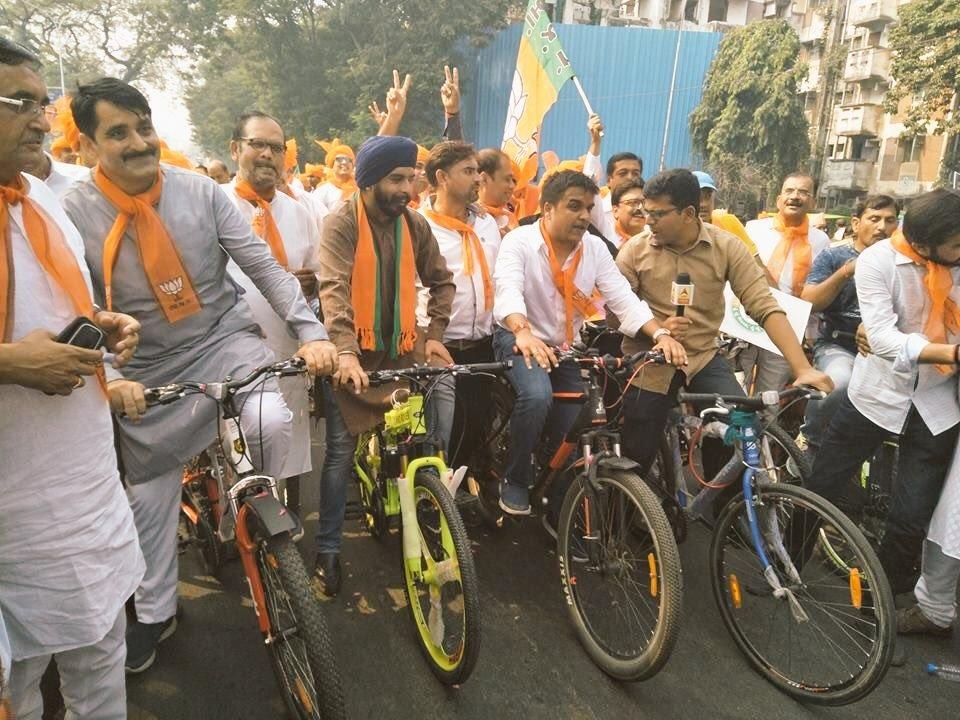 Sanghvi's campaign. Credit: Damayantee Dhar