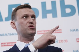 Russian opposition leader Alexei Navalny delivers a speech during a meeting to uphold his bid for presidential candidate, in Moscow, Russia December 24, 2017. Credit: Reuters/Maxim Shemetov