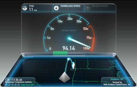 Use an Internet speed test to diagnose slow Internet speeds