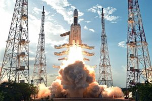 Sriharikota: ISRO's heaviest rocket GSLV Mk-III, carrying communication satellite GSAT-19, takes off from Satish Dhawan Space Centre in Sriharikota on Monday. PTI Photo/ISRO(PTI6_5_2017_000216B)