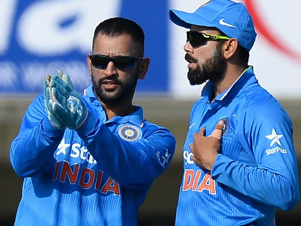 dhoni kohli Photo by BCCI