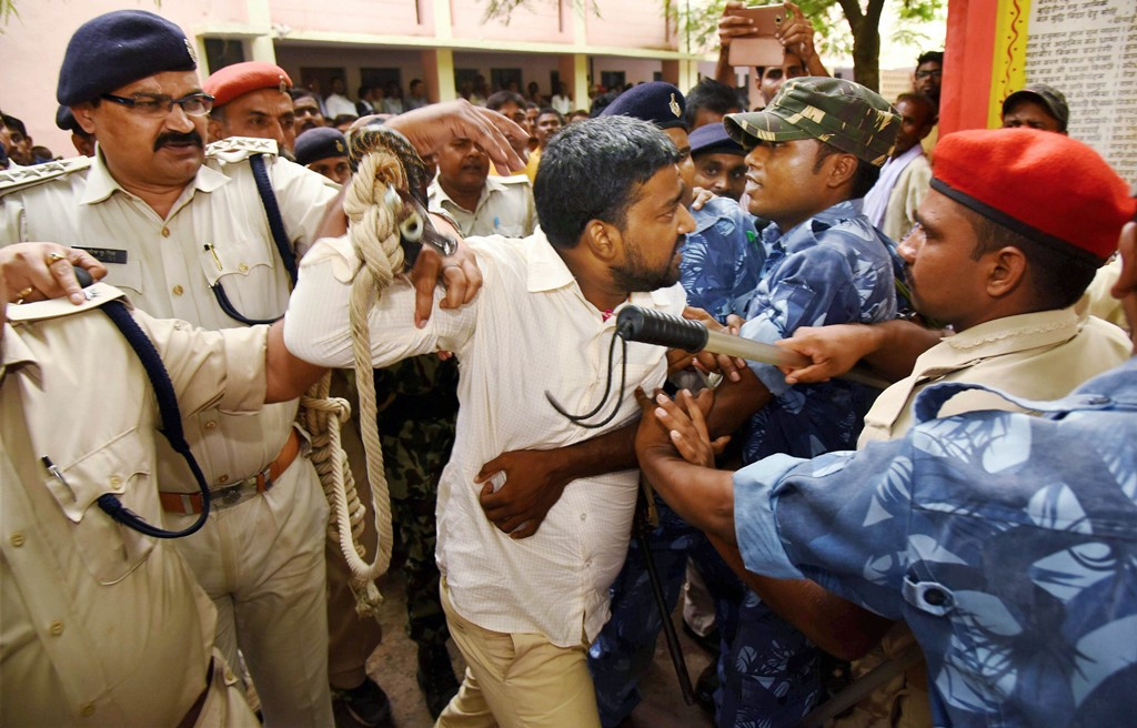 Gaya: Accused Rocky Yadav at Gaya court after being convicted in Aditya Sachdeva murder case in Gaya on Thursday. PTI Photo(PTI8 31 2017 000118B)