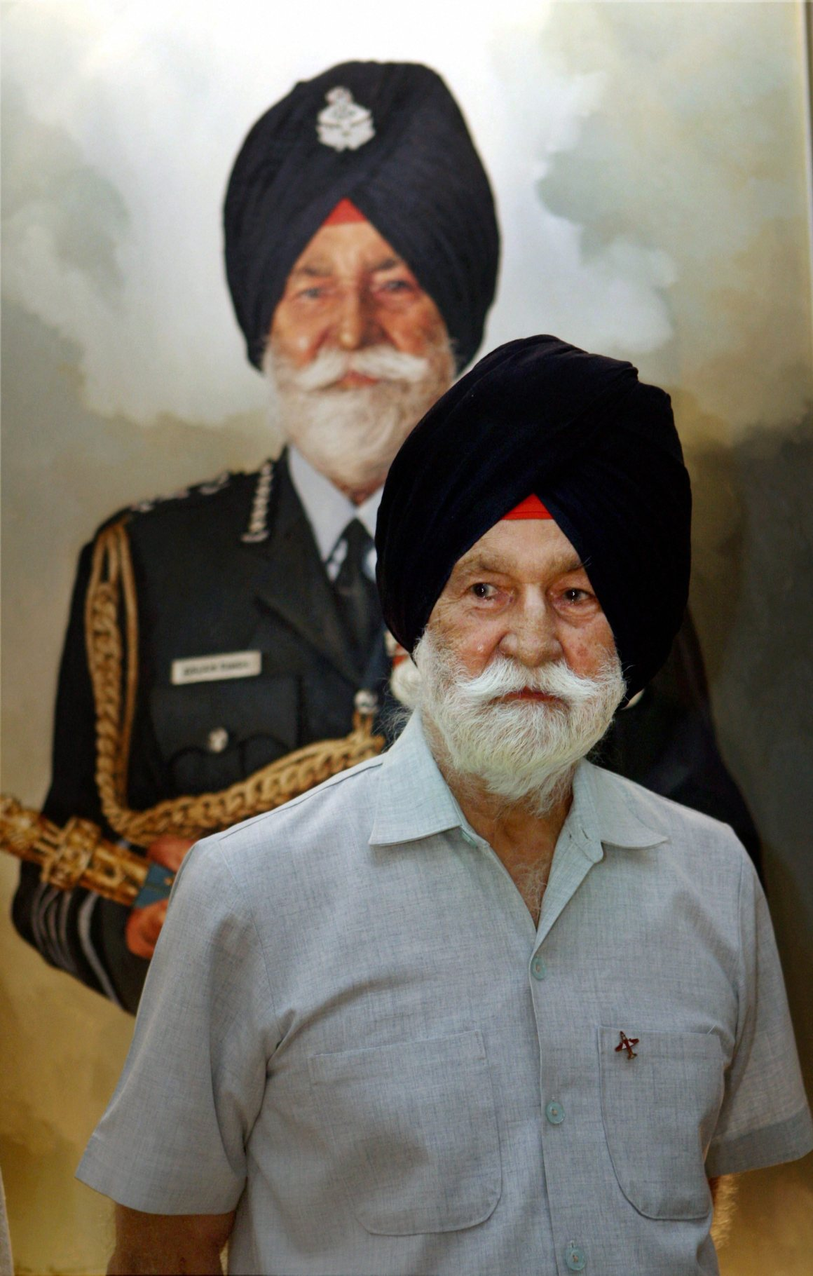 New Delhi: File photo of Marshal of the Indian Air Force Arjan Singh, famous for his role in the the 1965 India- Pakistan war, has been hospitalised and his condition is stated to be critical.PTI Photo(PTI9_16_2017_000104B)