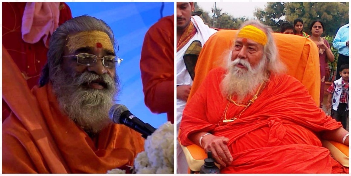 Shankaracharya Saraswati and Vasudevanand Saraswati