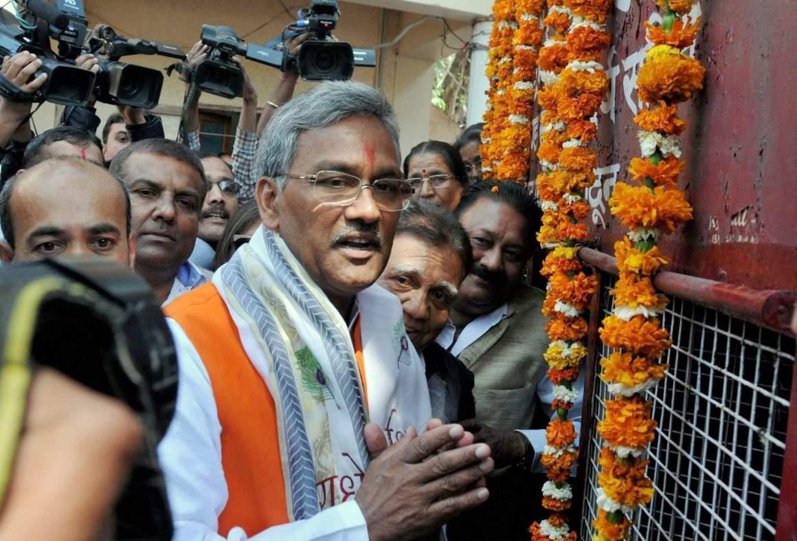 उत्तराखंड के मुख्यमंत्री त्रिवेंद्र सिंह रावत. (फोटो: पीटीआई)