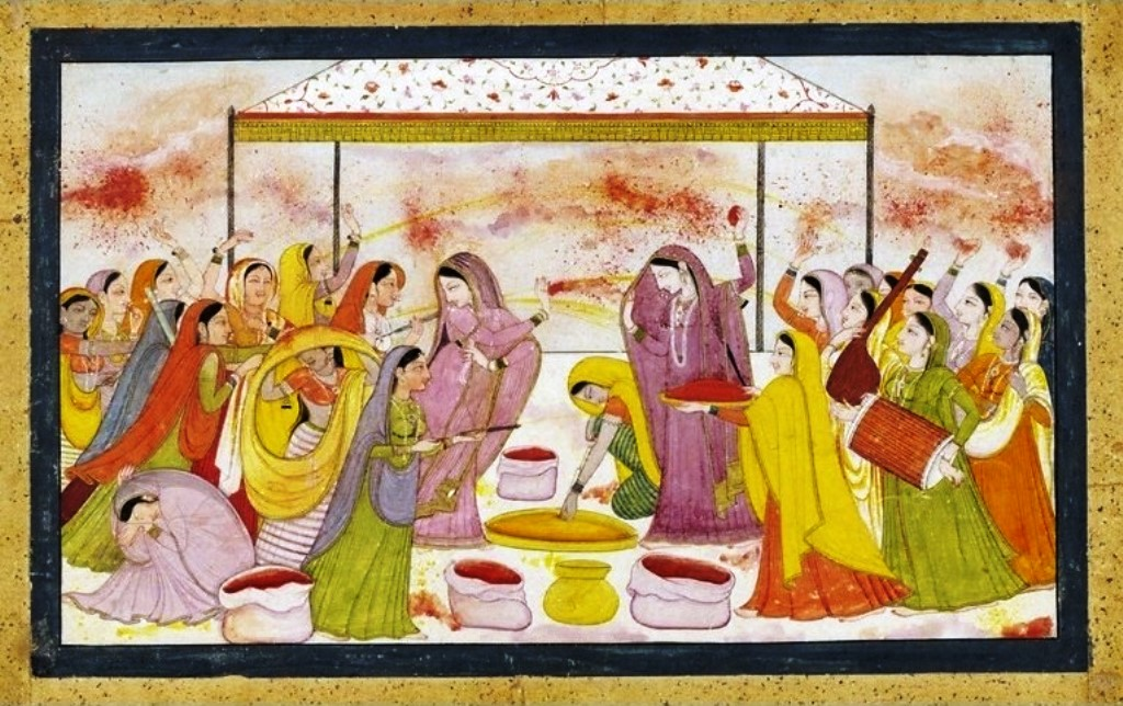 Radha_celebrating_Holi wikimedia commons