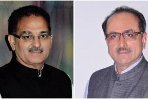 जम्मू कश्मीर के उपमुख्यमंत्री कवींद्र गुप्ता (बाएं) और जम्मू कश्मीर विधानसभा अध्यक्ष निर्मल सिंह (दाएं) (फोटो साभार: फेसबुक)