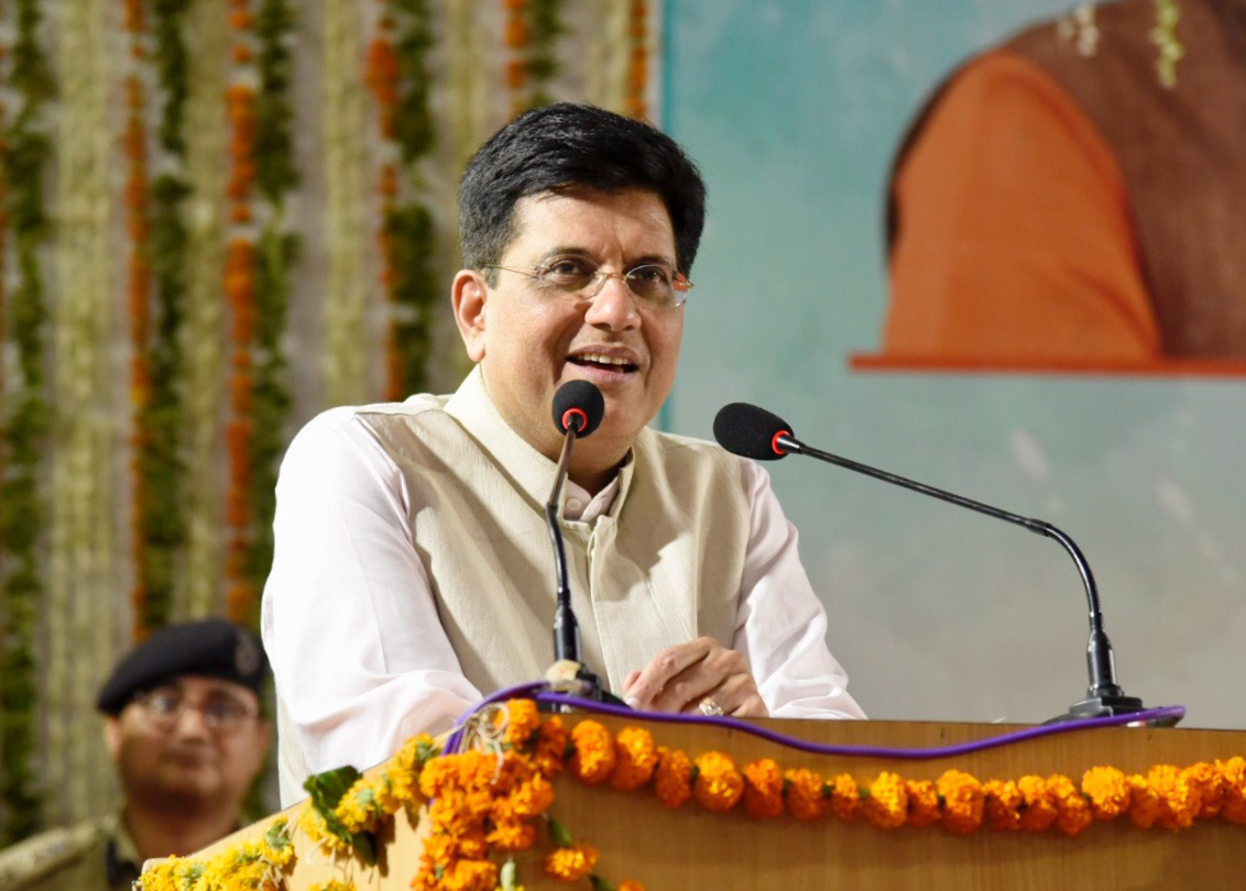 The Union Minister for Railways, Coal, Finance and Corporate Affairs, Shri Piyush Goyal addressing at the flag-off ceremony of Bhagat Ki Kothi (Jodhpur) - Bandra Terminus Humsafar Express, at Jodhpur, in Rajasthan on June 02, 2018.