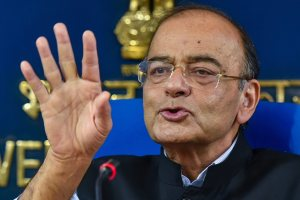 New Delhi: Finance Minister Arun Jaitley speaks during a press conference, in New Delhi, Wednesday, Sept 05, 2018. (PTI Photo/Kamal Kishore) (PTI9_5_2018_000261B)