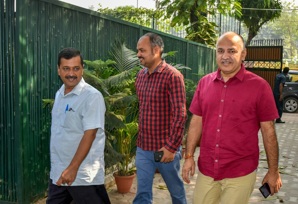 Arvind Kejriwal and Manish Sisodia PTI10_25_2018_000037B
