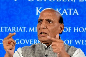 Kolkata: Union Home Minister Rajnath Singh speaks during the 23rd meeting of the Eastern Zonal Council at Nabanna Chief Minister office, in Kolkata, Monday, Octo 01, 2018. (PTI Photo/Ashok Bhaumik)(PTI10_1_2018_000105B)